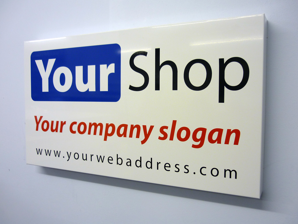 Shop sign and fascia provided by Norton Print and embroidery