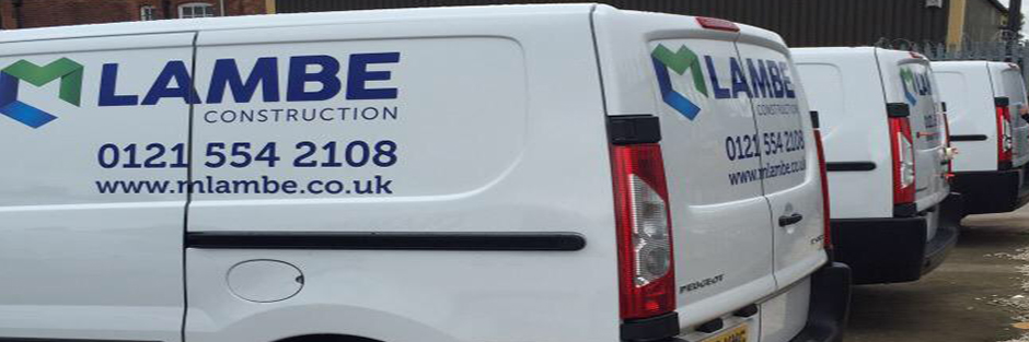 Fleet Livery example for M Lambe construction